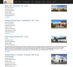 Commercial Real Estate Listings on Leavitt Digital